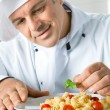 Chef at work — Stock Photo