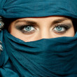 Arabic girl glance — Stock Photo