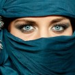 Arabic girl glance - Stock Photo