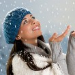 Snowing time in winter — Stock Photo