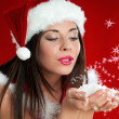 Christmas Santa Claus girl — Stock Photo