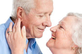 Senior love and care — Stock Photo