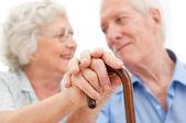 Serene äldre par — Stockfoto