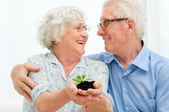 Retirement savings and investements — Stock Photo