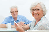 Aged couple leisure — Stock Photo