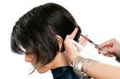 Corte de pelo de peluquería — Foto de Stock