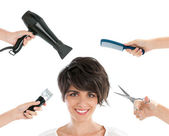 Happy hairdresser — Stock Photo