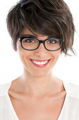 Happy girl with glasses — ストック写真