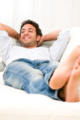 Relax and rest at home — Stock Photo