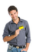 Credit card affection — Stock Photo