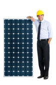 Business with solar energy — Stock Photo
