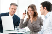 Business group working together — Stock Photo