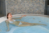 Hydro massage in jacuzzi — Stock Photo