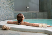 Relaxation at spa — Stock Photo