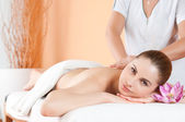 Massage at spa — Stock Photo