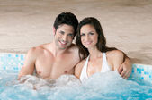 Hot tub with love — Stock Photo