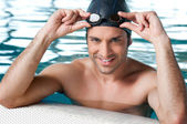 Swimmer at pool — Stock Photo