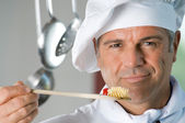 Cooking with satisfaction — Stock Photo
