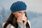 Winter fever and flu — Stock Photo