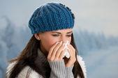 冬季出现发烧及流感 — 图库照片