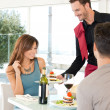 Couple Dining At Restaurant - Stock Photo
