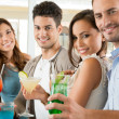 Friends enjoying the aperitif — Stockfoto