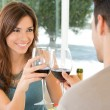 Young Couple Drinking Wine — Stock Photo #16956131