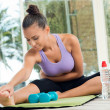 Woman Fitness Exercising - Stock Photo