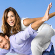 Happy joyful couple - Stock Photo