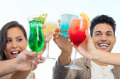 Group Of Friends Toasting Glasses — Stock Photo