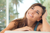 Smiling Woman Thinking — Stock Photo