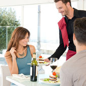 Couple Dining At Restaurant — Stockfoto