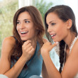 Amazed Surprised Girls — Stockfoto