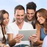 Aproveite o tablet digital — Foto Stock