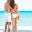 Happy Couple At Beach - Stock Photo