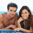 Happy Couple At Beach — Stockfoto