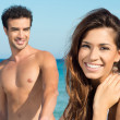 Loving couple at beach — Stock Photo