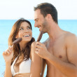 Couple Eating Ice Cream — Stock Photo
