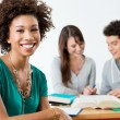 Foto Stock: Happy Afro American Student