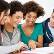 Stockfoto: Studying Homework Together