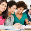 Happy Friends Doing Homework — Stock Photo #22064071
