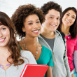 Grupo de estudiantes felices — Foto de Stock