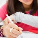 Writing homework — Stock Photo