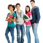 Portret van multi-etnische studenten — Stockfoto