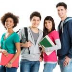 Ritratto di multi etnica studenti — Foto Stock