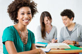 Happy Afro American Student — Stockfoto