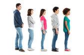 Stojących w rzędzie — Zdjęcie stockowe