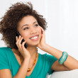Happy Woman Talking On Cellphone — Stock Photo