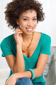Portrait Of Young Happy Woman — Stock Photo