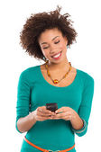 Young Woman Looking At Cellphone — Stock Photo